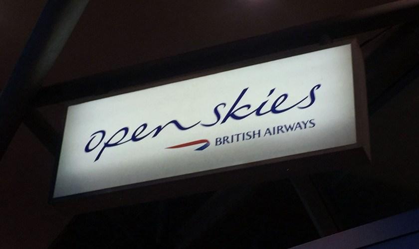 BA OpenSkies Sign - New York JFK airport