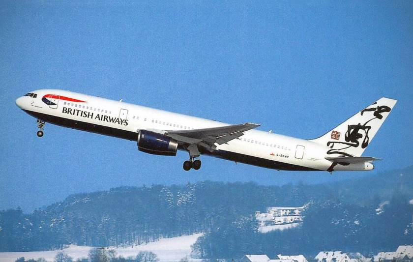 British Airways Boeing 767-300 G-BNWP Pictured 1999