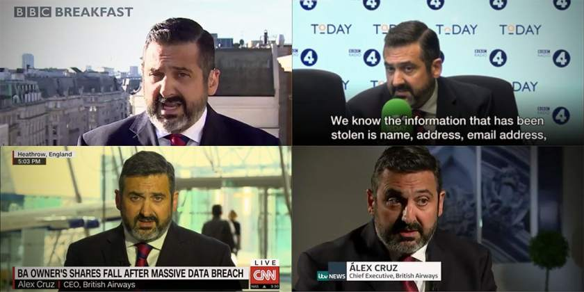 British Airways CEO Alex Cruz Media Appearances Friday 7 September 2018