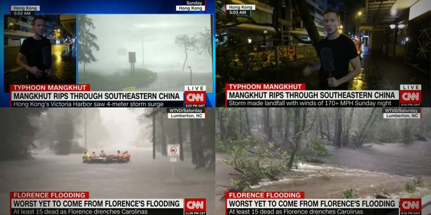 CNN Hurricane Florence Typhoon Mangkhut Coverage