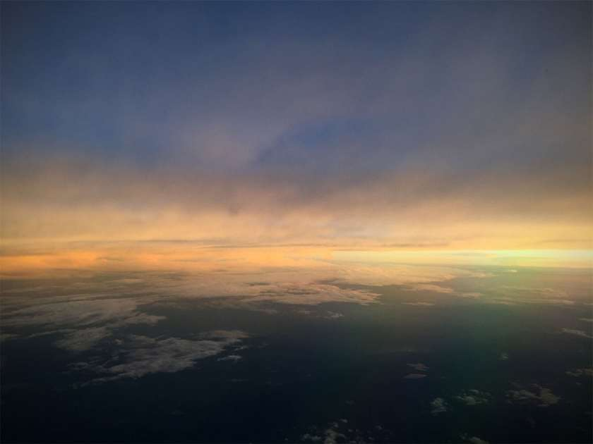 Flying over the North Atlantic - August 2018