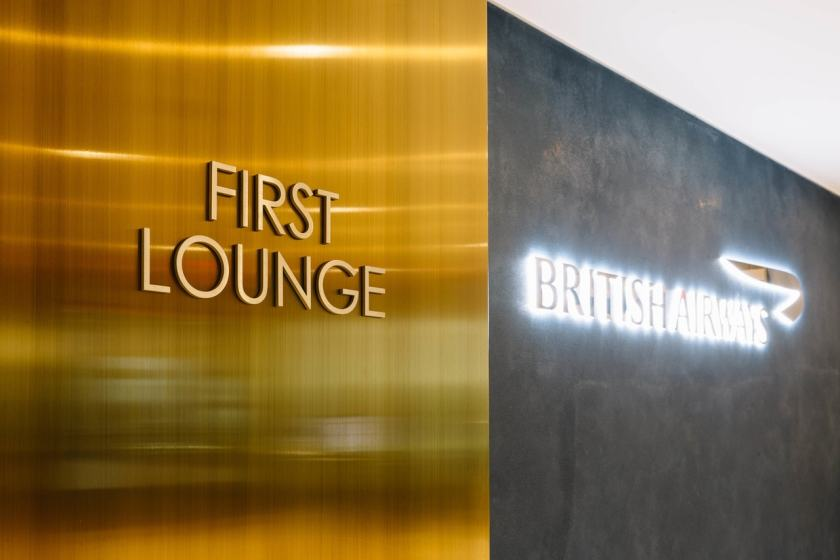 British Airways First Lounge Entrance New York JFK Terminal 7