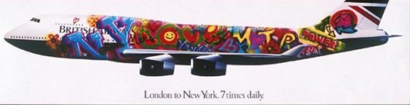 British Airways London - New York Poster (circa 1994)