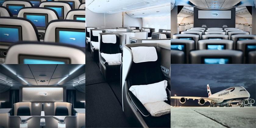 British Airways Airbus A380 Collage