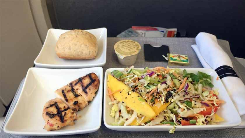 Lunch, American Airlines Domestic First Class