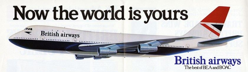 British Airways post BEA & BOAC merger advertisement