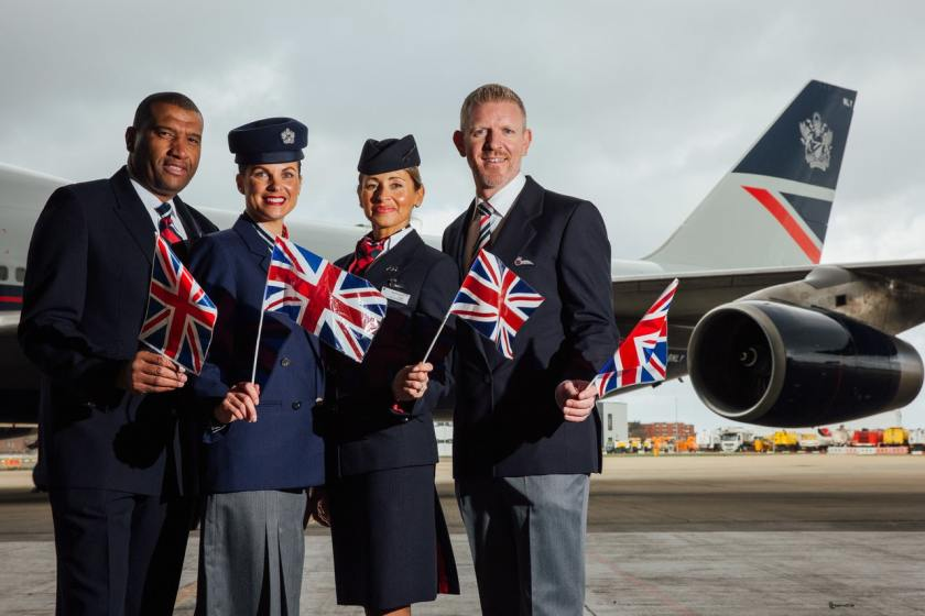 British Airways Staff in Roland Klein and Julien Macdonald uniforms, London Heathrow