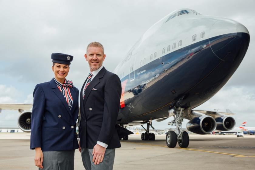 British Airways Staff in Roland Klein uniforms, London Heathrow