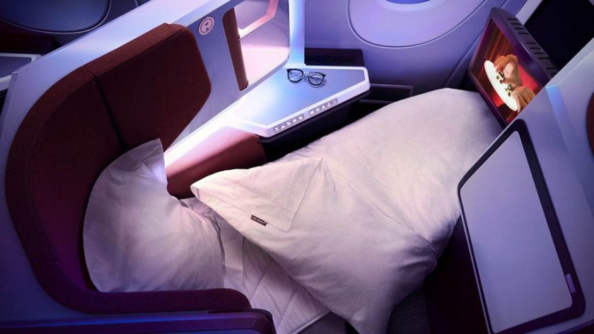 Virgin Atlantic Upper Class Airbus A350 aircraft