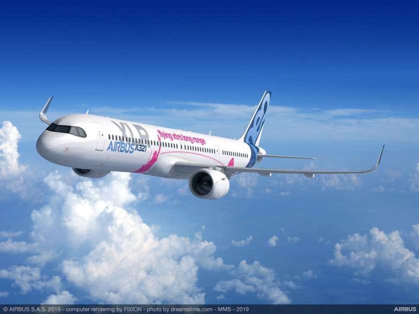 Airbus A321XLR aircraft render