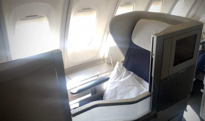 British Airways Club World Cabin Boeing 747 Upper Deck