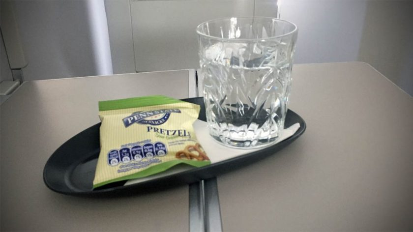 British Airways Club World Post Take-Off Snack London Heathrow - Miami