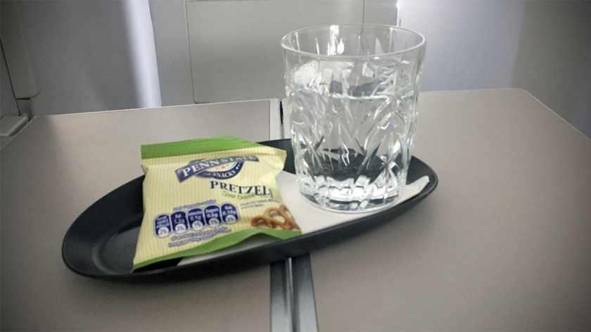 British Airways Club World Post Take-Off Snack London Heathrow - Miami