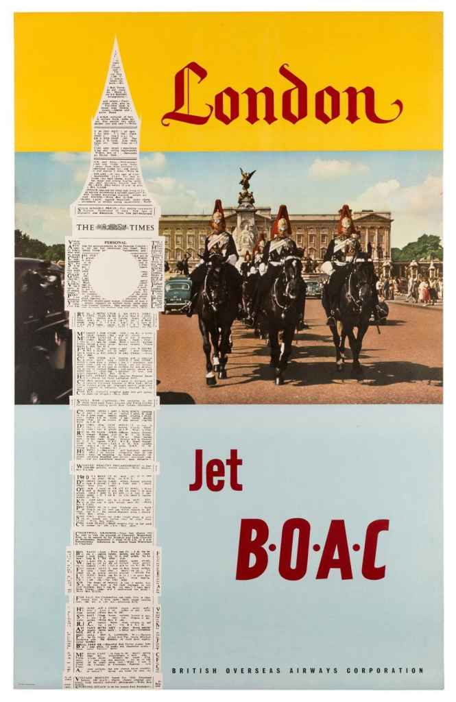 BOAC London Poster