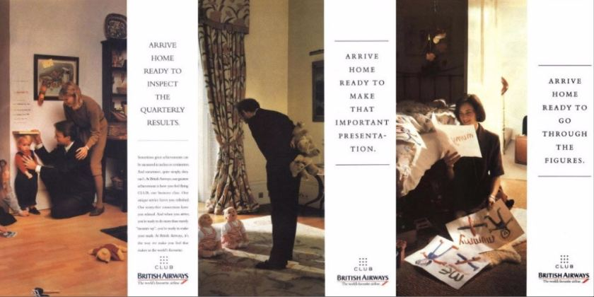 """British Airways """"Arrive Home"""" Adverts, Early 1990s"""
