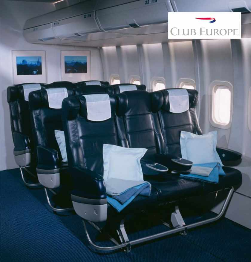 British Airways Club Europe Cabin Late 1990s / Early 2000s