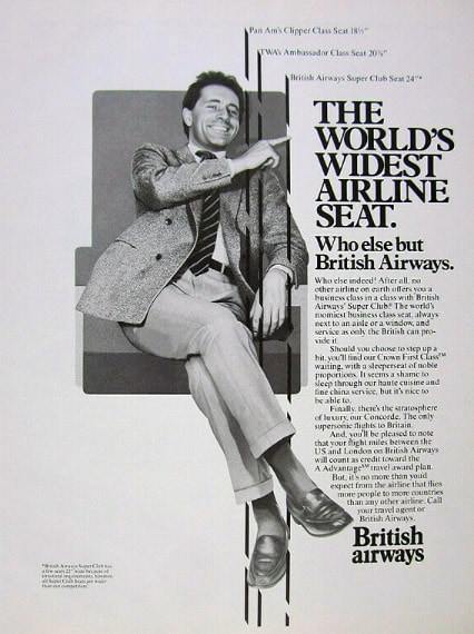 British Airways Super Club Seat Advert