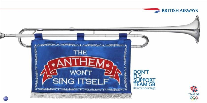 """Don't Fly. Support Team GB"""
