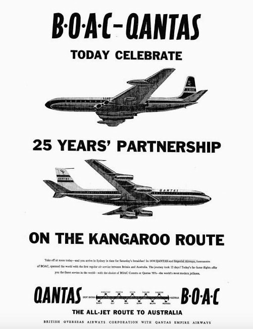 Qantas & BOAC Kangaroo Route 25th anniversary, 10 December 1959