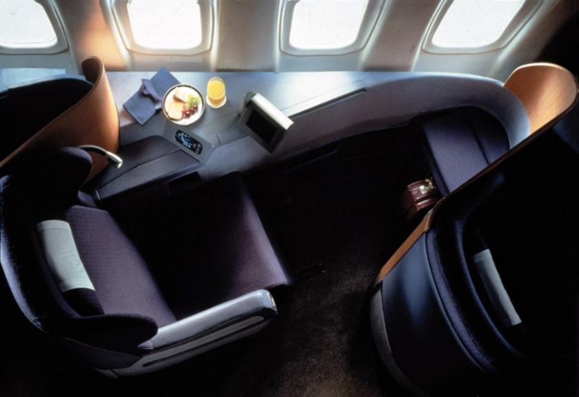 British Airways First Class Cabin 1995