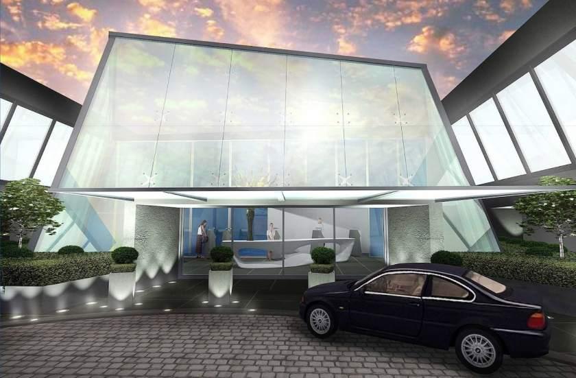 CGI image of planned redevelopment of New York Terminal JFK Terminal 7, 2008 (not realised)