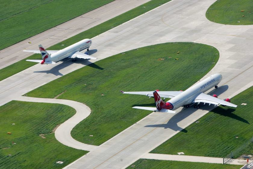 British Airways & Virgin Atlantic Aircraft, London Heathrow