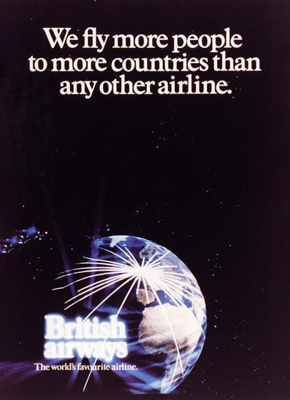 """British Airways """"The World's Favourite Airline"""", 1983"""