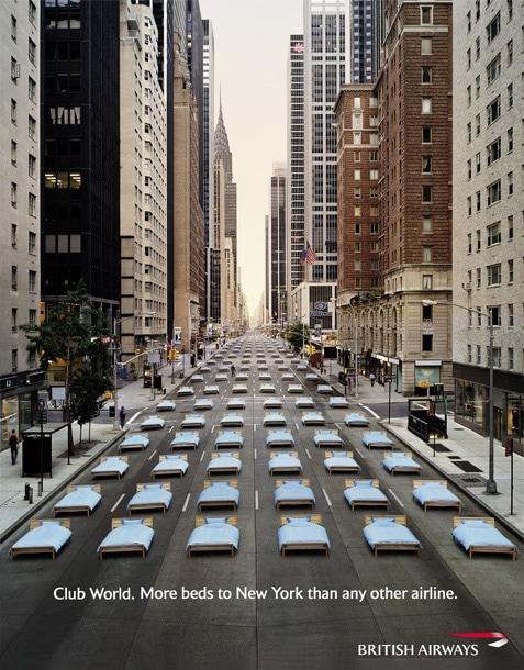British Airways Club World New York Advert