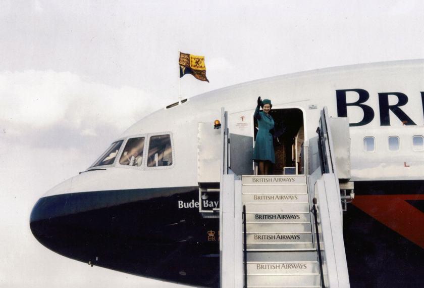Her Majesty The Queen, British Airways Lockheed L-1011 Tristar Aircraft, 1986