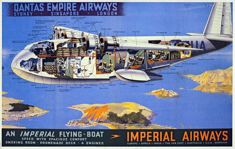 Imperial Airways / Qantas Empire Airways Poster