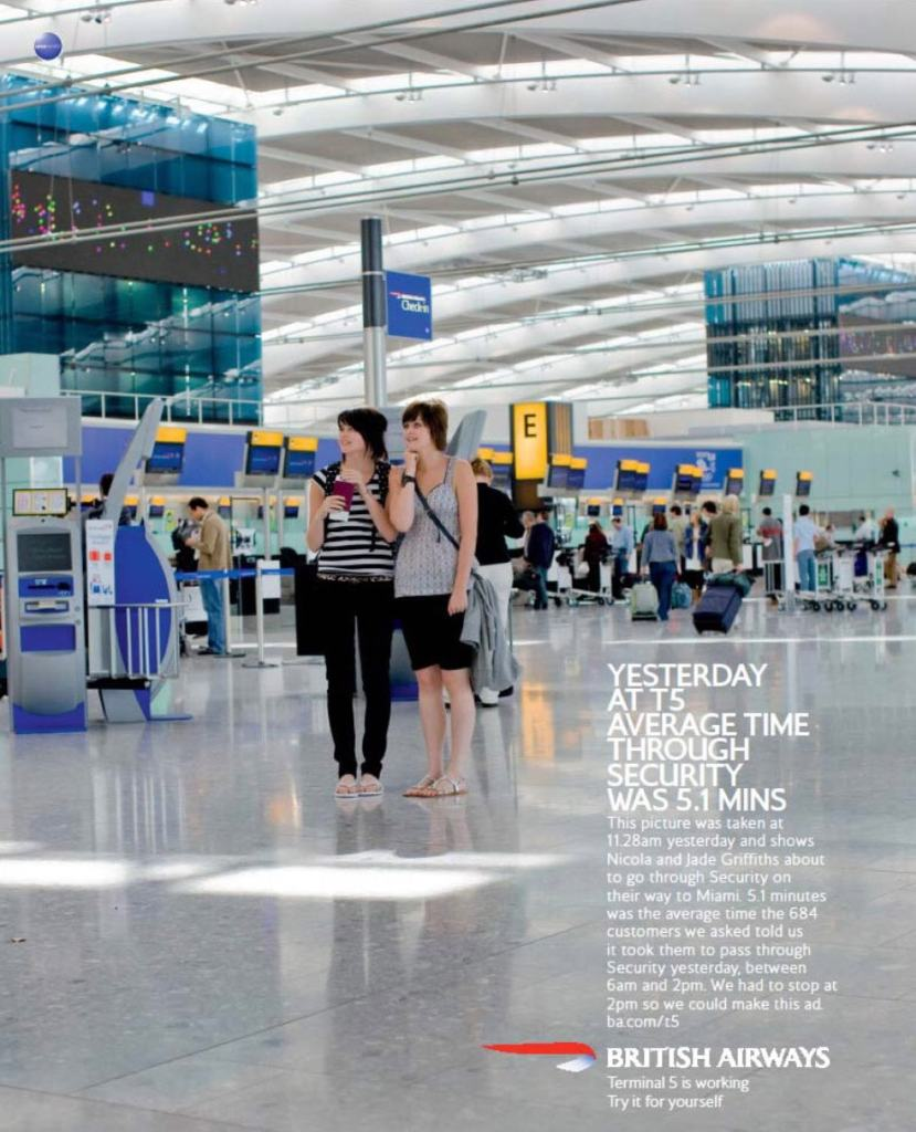 """Terminal 5 is working"" Bartle Bogle Hegary for British Airways, 2008"