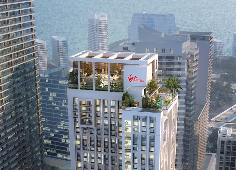 Virgin Hotels Miami Brickell District Render