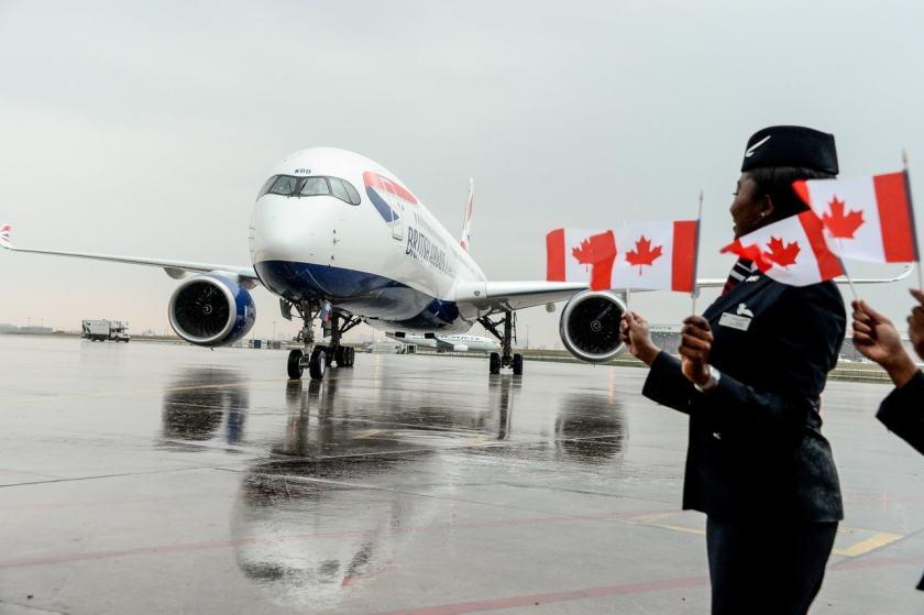 British Airways Airbus A350-1000 Aircraft, Toronto Pearson International Airport