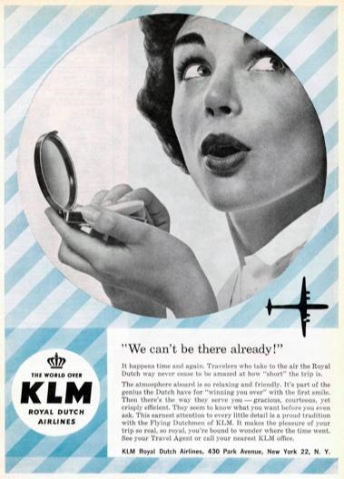 KLM Print Advert August 1958