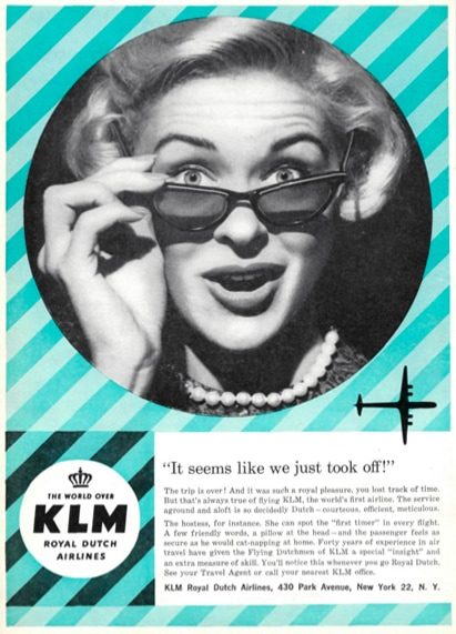 KLM Print Advert November 1958