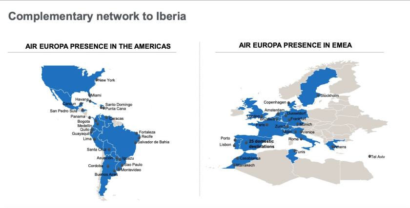 Air Europa Route Network