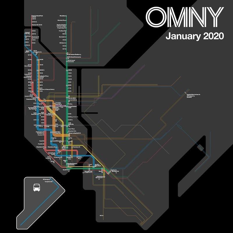 OMNY Stations, January 2020