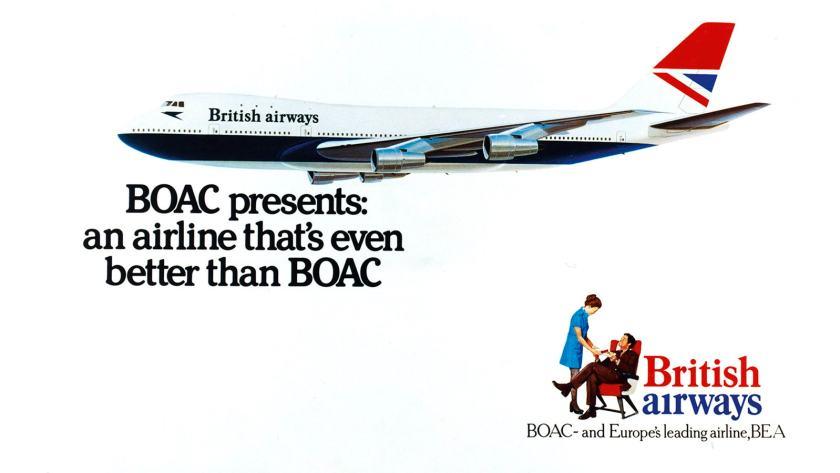 British Airways - BEA & BOAC Merger Poster