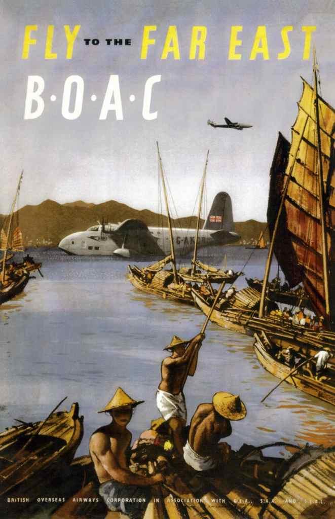 BOAC Far East Poster