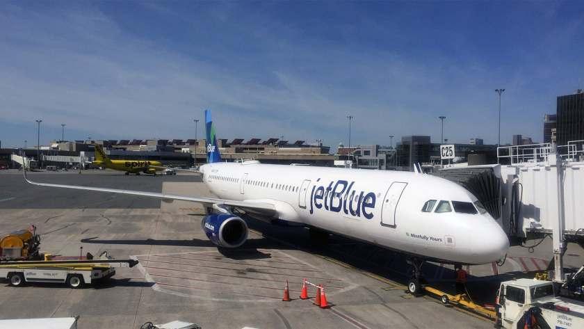 JetBlue Airbus A321 Aircraft, Boston Logan International Airport