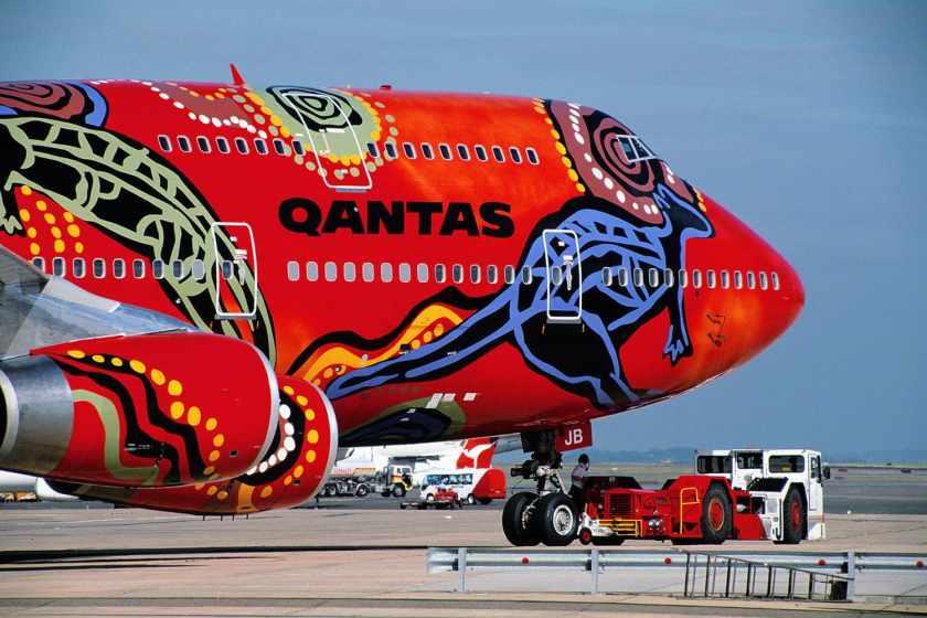 Qantas Boeing 747-438 Aircraft VH-OJB Wunala Dreaming Livery