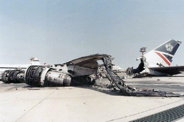 British Airways Boeing 747-137 Aircraft G-AWND, Kuwait