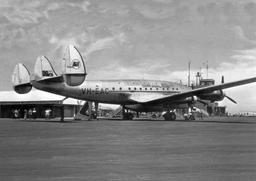 Qantas Empire Airways Lockheed Constellation Aircraft VH-EAC, Sydney, 1947