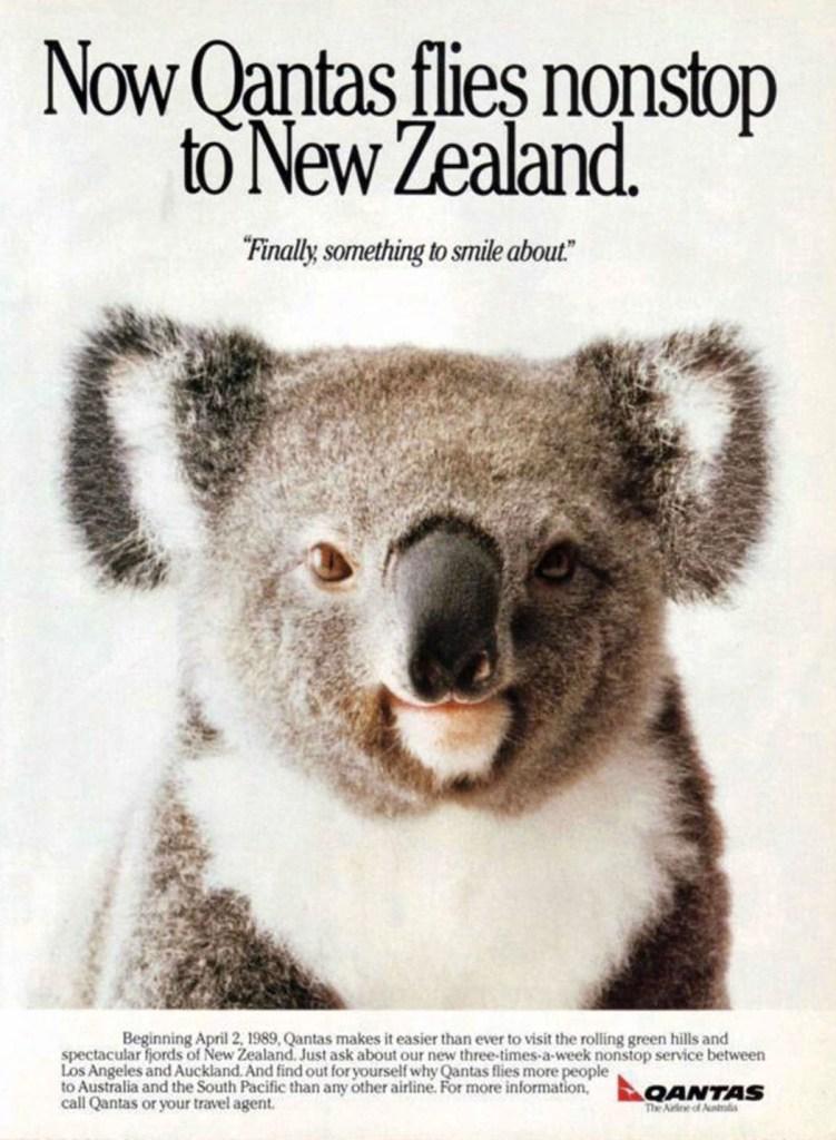 Qantas Los Angeles - Auckland Non-Stop, 1989