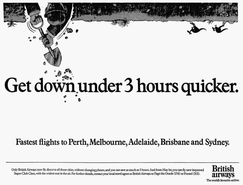 British Airways Australia Advertisement, December 1984