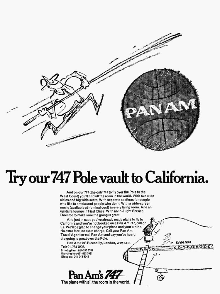 Pan Am, London Heathrow - West Coast, June 1970