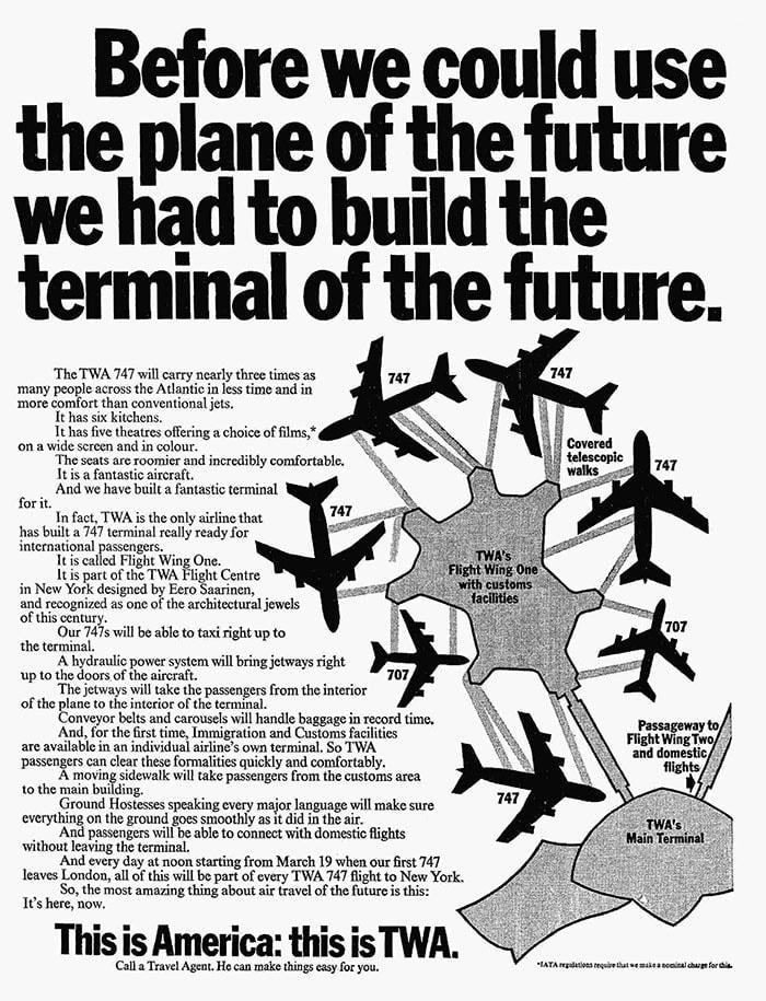 TWA Terminal, New York JFK, February 1970