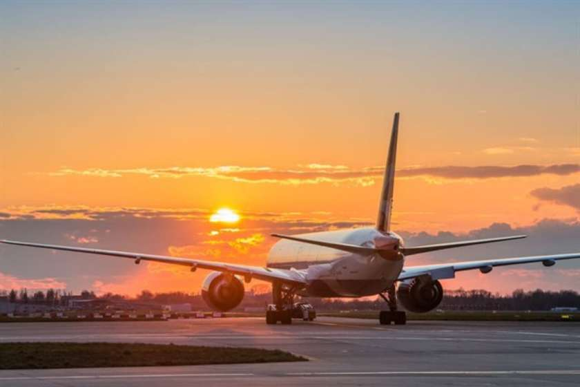 British Airways aircraft on the ground at London Heathrow Airport.