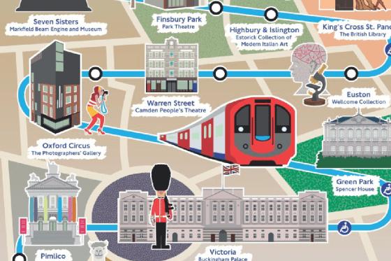 Victoria line Cultural Tube Map