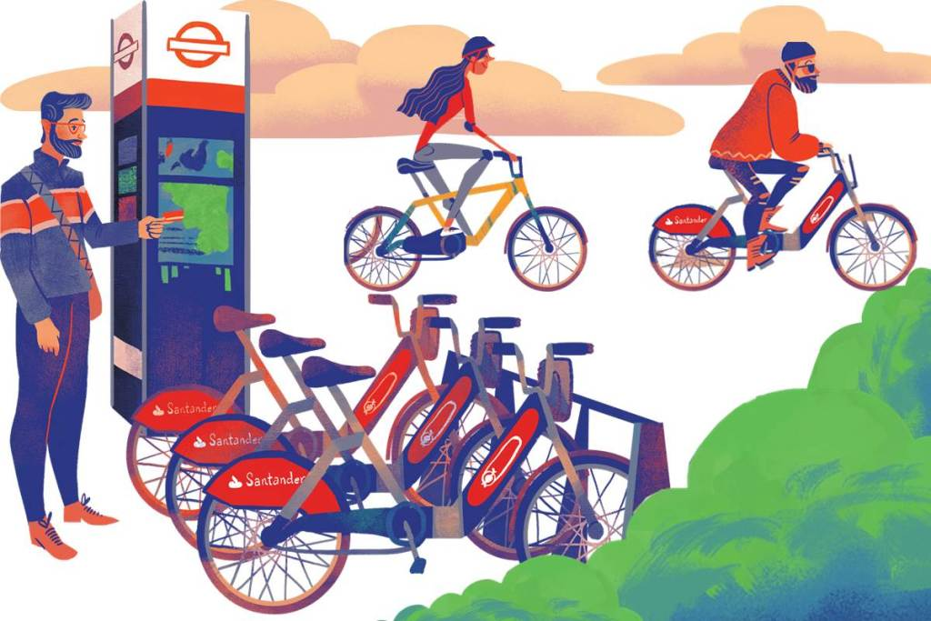 Cycle the Sights Santander Cycles docking station